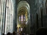 Entering the famous St. Vitus Cathedral