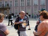 Radek showing us photos of the history of Prague Castle