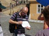 Radek explaining the magical date when the Charles Bridge was built