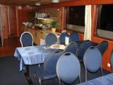 The interior of the boat was cozy and clean